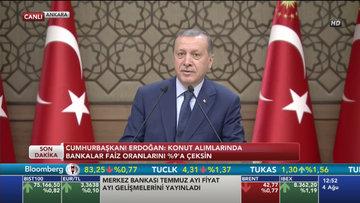 Erdoğan'dan bankalara faiz düşürün çağrısı