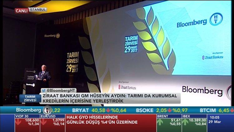 Ziraat GM Aydın Bloomberg HT'nin tarım zirvesinde