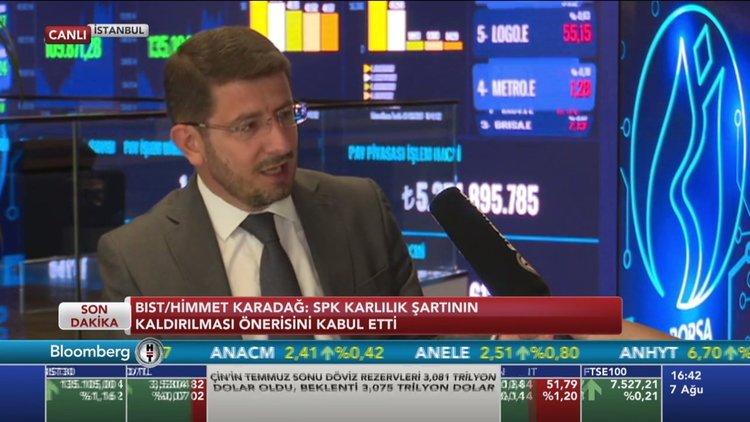 BIST/Karadağ: SPK karlılık şartının kaldırılmasını kabul etti