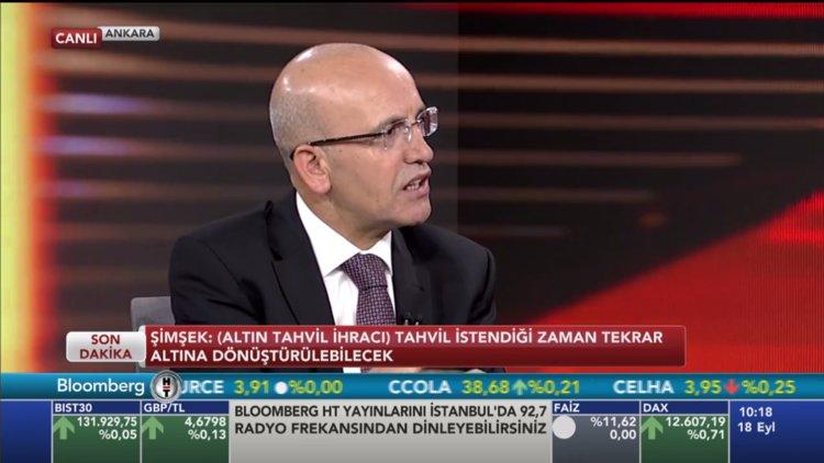 Başbakan Yardımcısı Mehmet Şimşek Bloomberg HT'de