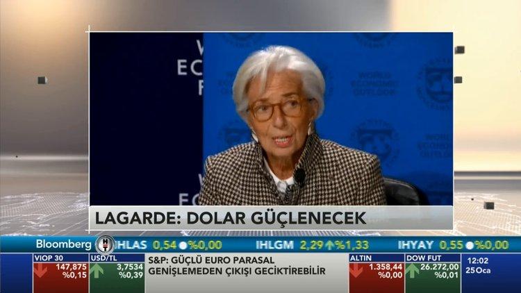 IMF Başkanı Christine Lagarde Davos'ta konuştu