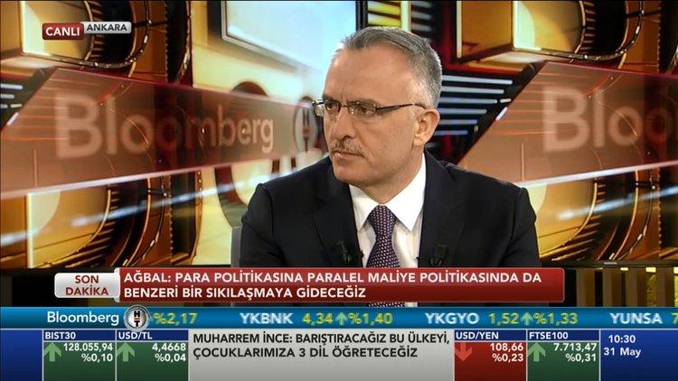 Maliye Bakanı Naci Ağbal Bloomberg HT'de