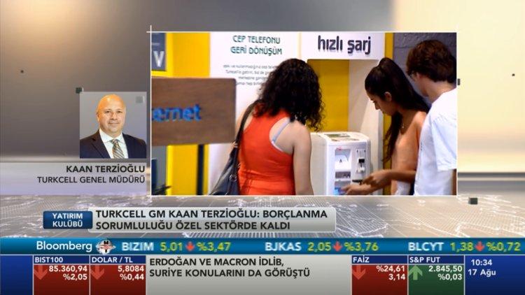 Turkcell Genel Müdürü Bloomberg HT'ye konuştu