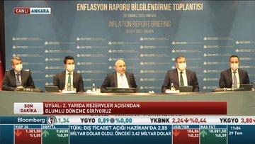 TCMB/Uysal: Enflasyon Temmuz'dan itibaren düşüş eğilimine girecek