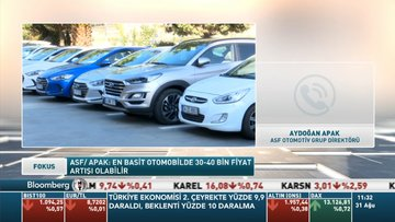 ASF/Apak: En basit otomobilde 30-40 bin lira fiyat artışı olabilir