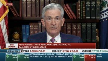 Fed/Powell: Tahvil alımlarını azaltmaya bu yıl başlamak uygun olabilir