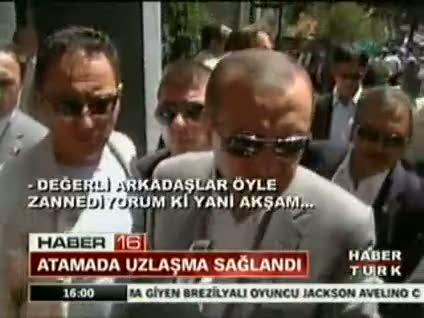 """Erdoğan: """"İsimlerde uzlaşmaya varıldı"""""""