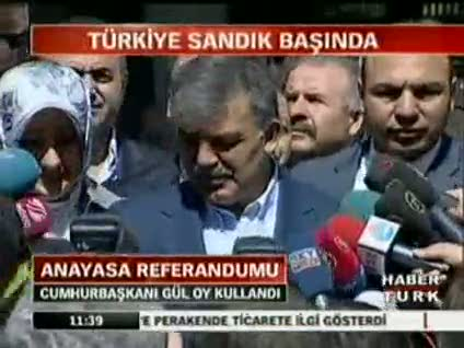 Abdullah Gül'den referandum açıklaması