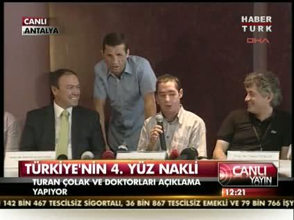Türkiye'nin 4. yüz nakli! (Açıklama 2)