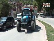 Traktörle dünya turu!
