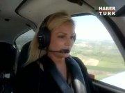 Lisa Şener'in ilk yalnız uçuşu!
