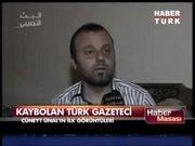 Kaybolan Türk gazetecinin ilk görüntüleri