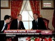 Putin-Erdoğan görüşmesinden ilk görüntüler!