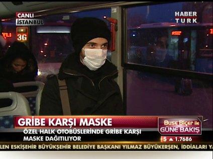 Gribe karşı maske!