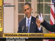 Görüşme sonrası Obama'nın konuşması