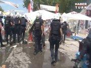 Polis gezi parkına girdi ancak eylemcilere müdahale etmedi