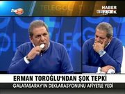 Erman Toroğlu canlı yayında kağıt yedi!
