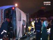 Maslak'da otobüs kazası