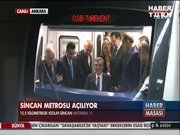 Kızılay - Sincan metrosu açıldı