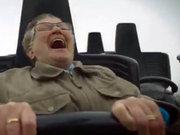 78 yaşında 'hız treni'ne bindi!