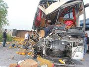 Kamyonla otobüs çarpıştı: 1 ölü 40 yaralı