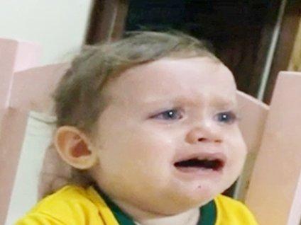 Neymar için ağlayan fanatik taraftar!