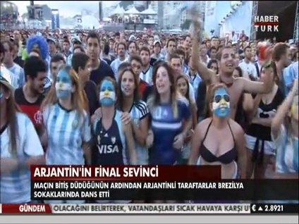 Arjantin'in final sevinci