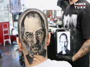 Kafasına Steve Jobs resmi kazıttı