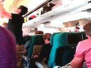 Malezya uçağının içinden son görüntüler