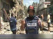 El Cezire muhabiri Şucaiye katliamını anlatırken kendini tutamadı