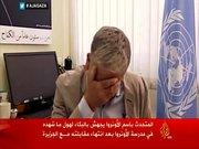 BM sözcüsü Gazze için hıçkırıklara boğuldu
