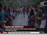 Halaylı HES protestosu