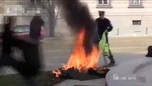 Cumhurbaşkanlığı binası önünde kendini yaktı