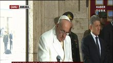 Papa Francis Anıtkabir'de
