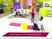Ebru Şallı ve Alişan pilates yaptı!