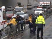 İki metrobüs çarpıştı: 3 yaralı