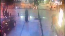 Saldırı anı güvenlik kamerasında