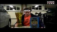 2 dakikada 3 litre zeytin yağı içti!