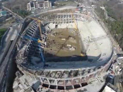 Vodafone Arena inşaatının havadan videosu!