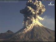 İşte yanardağın patlama anı...