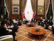 Cumhurbaşkanı Erdoğan'ın sürpriz kabulü
