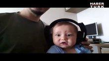 İlk kez Rock müzik dinleyen bebek!
