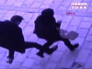 Cami bahçesinde kadına şiddetin şok görüntüleri!