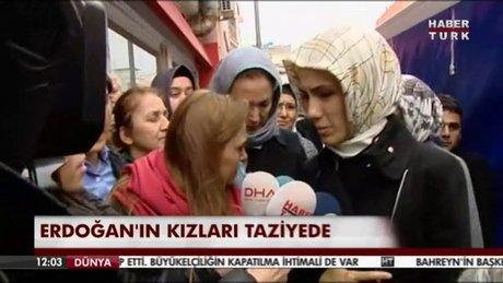 Cumhurbaşkanı Erdoğan'ın kızları Özgecan'ın evinde