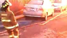 Meksika'da LPG tankı patlaması kameralara böyle yansıdı