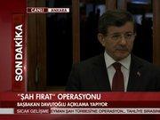 Başbakan Davutoğlu'ndan Süleyman Şah Operasyonu açıklaması