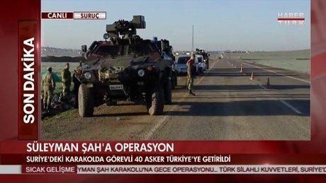 Süleyman Şah Türbesi'ne operasyon