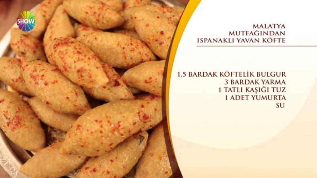 Ispanaklı Yavan Köfte tarifi / Nursel'in Mutfağı