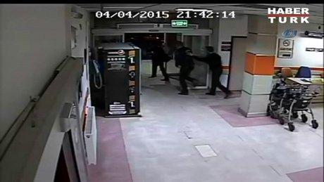 Hastanede silahlı saldırının görüntüleri!
