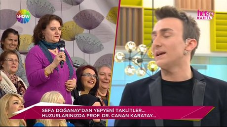 Sefa Doğanay'dan güldüren Canan Karatay taklidi